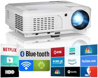 2020 Bluetooth Projector WiFi Android LCD LED Smart Video Projector under five hundred dollar
