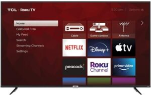 TCL 75-inch best size gaming TV